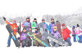 男子班は元気にスノーボードを楽しみました!