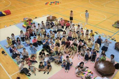 元気な子ども!!いっぱい集まりました。