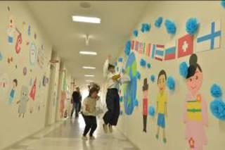 廊下も装飾でいつもと違う雰囲気に!