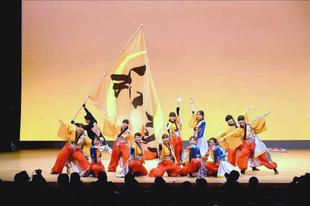 交流会の最後を飾る「和敬」の演舞