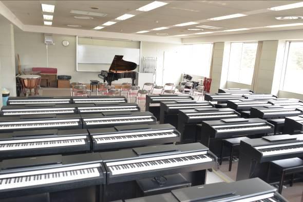充実したピアノの設備