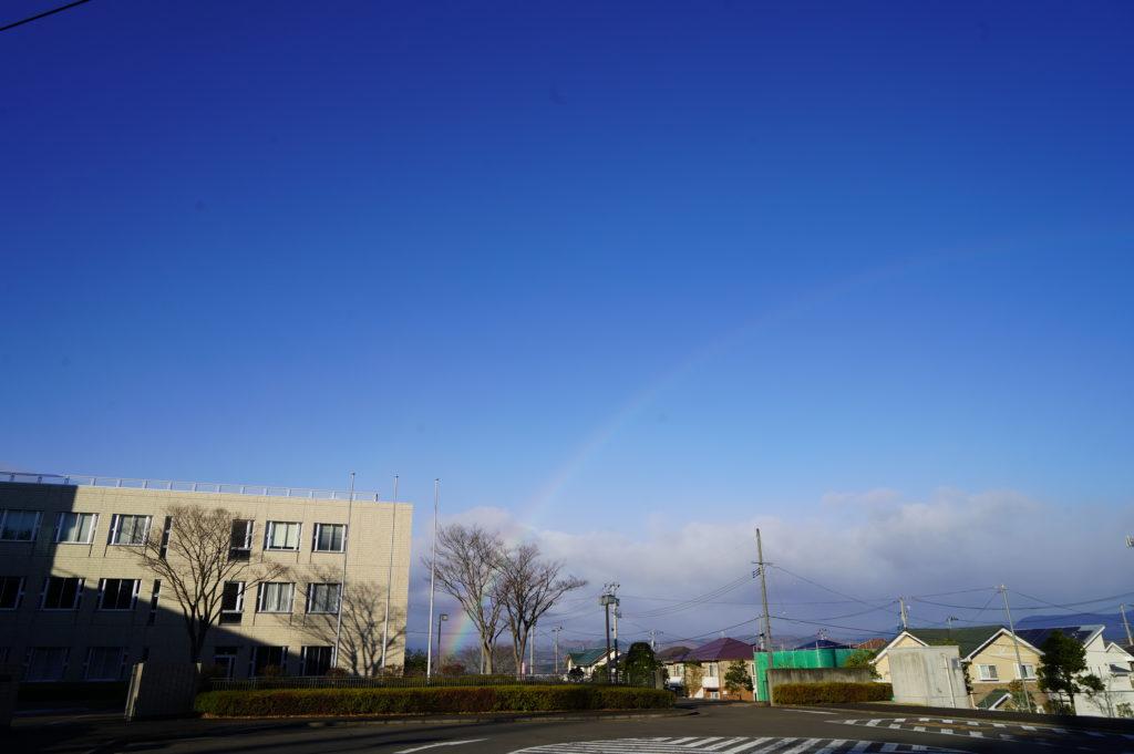 冬空には珍しい虹のかけ橋