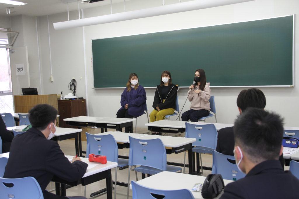 聖和高校出身の学生から短大の学びについて紹介