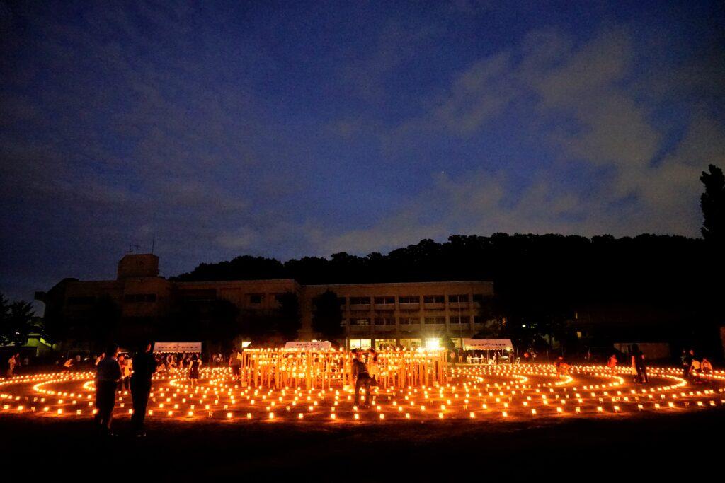 神戸市池田小学校の事件を契機に開催されている「みやぎ夢燈花」も12年経過し開催最後の年となりました。平成30年9月5日