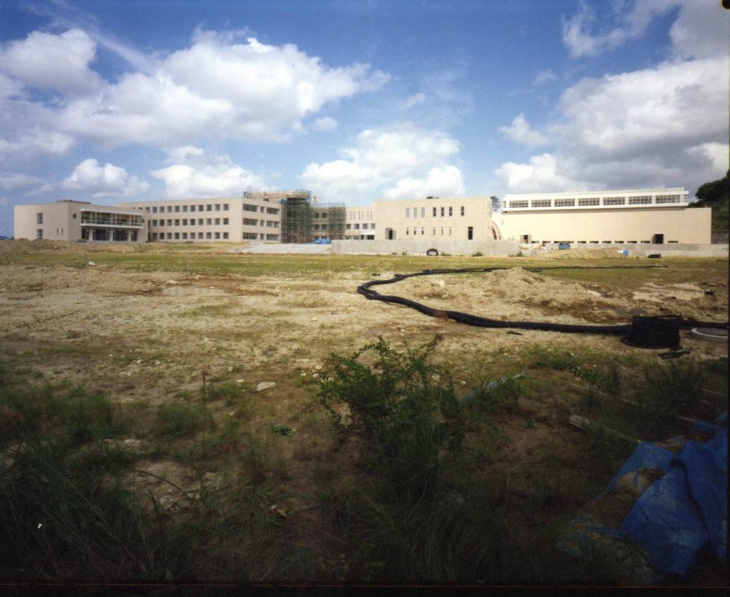 昭和62年 建設中の新校舎