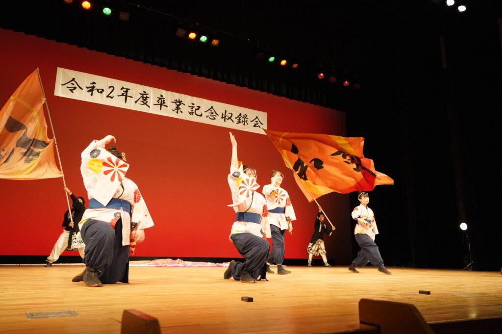 よさこい「和敬」の伝統曲「百花繚蘭」は息のぴったり合った踊りで本当に素晴らしい踊りにまとまりました。
