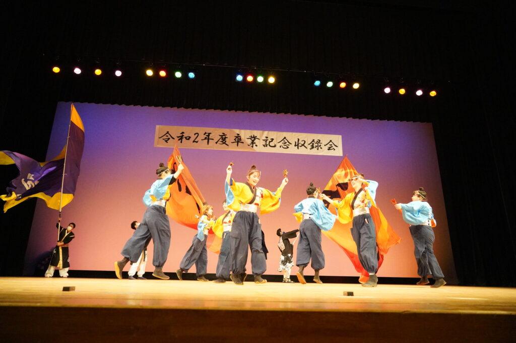 「和敬」による「みちのくYOSAKOI踊りには、観客席に並んだ「神威」と「月詠」さん方の応援の踊りも加わり、会場を大いに盛り上げていただきました。