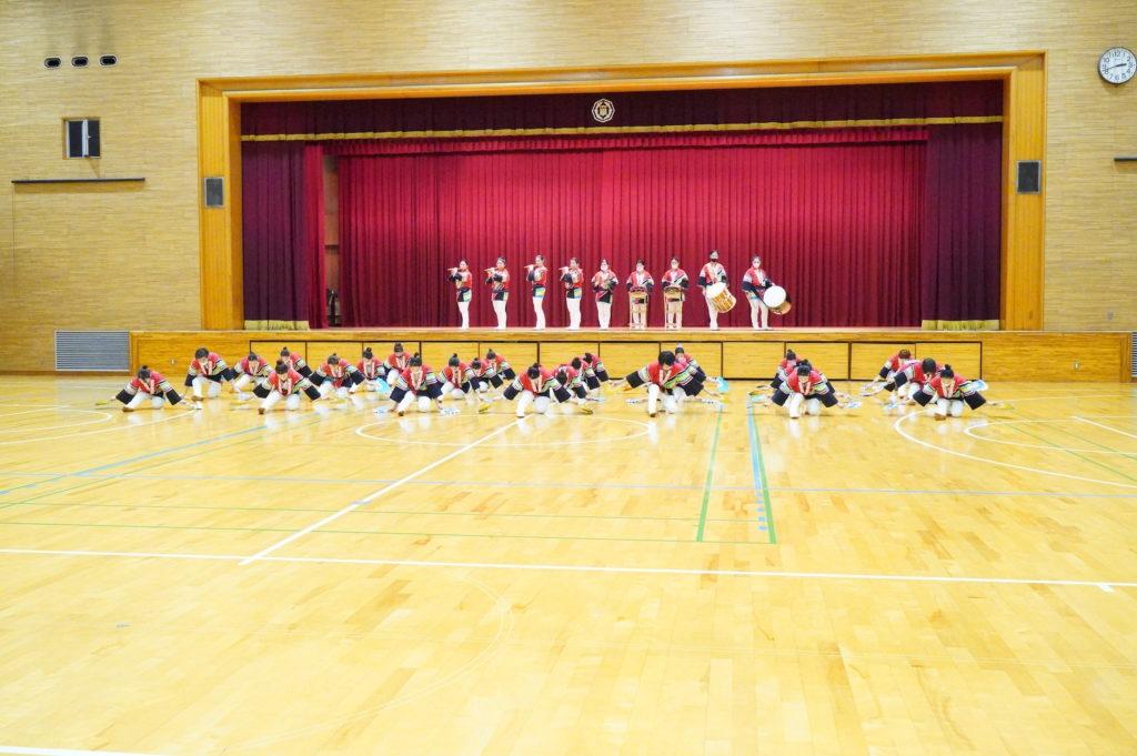 すずめ踊りは3限目の授業が終わってから行われました。