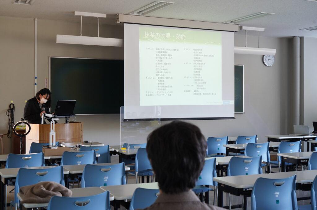日本人とお茶(関根ゼミ) 抹茶の効果について一生懸命研究の後が見られました。