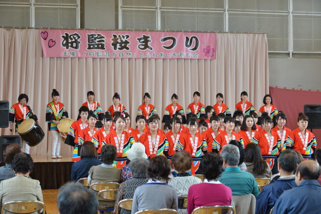 将監桜まつりでは、すずめ踊り、よさこい、ダンス部も勢ぞろいしました。平成27年4月19日