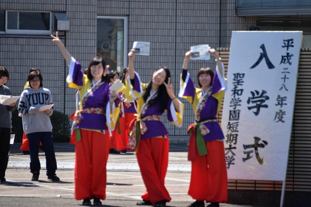 入学式当日、各部活動の勧誘に一生懸命に取り組んでいました。平成28年4月5日
