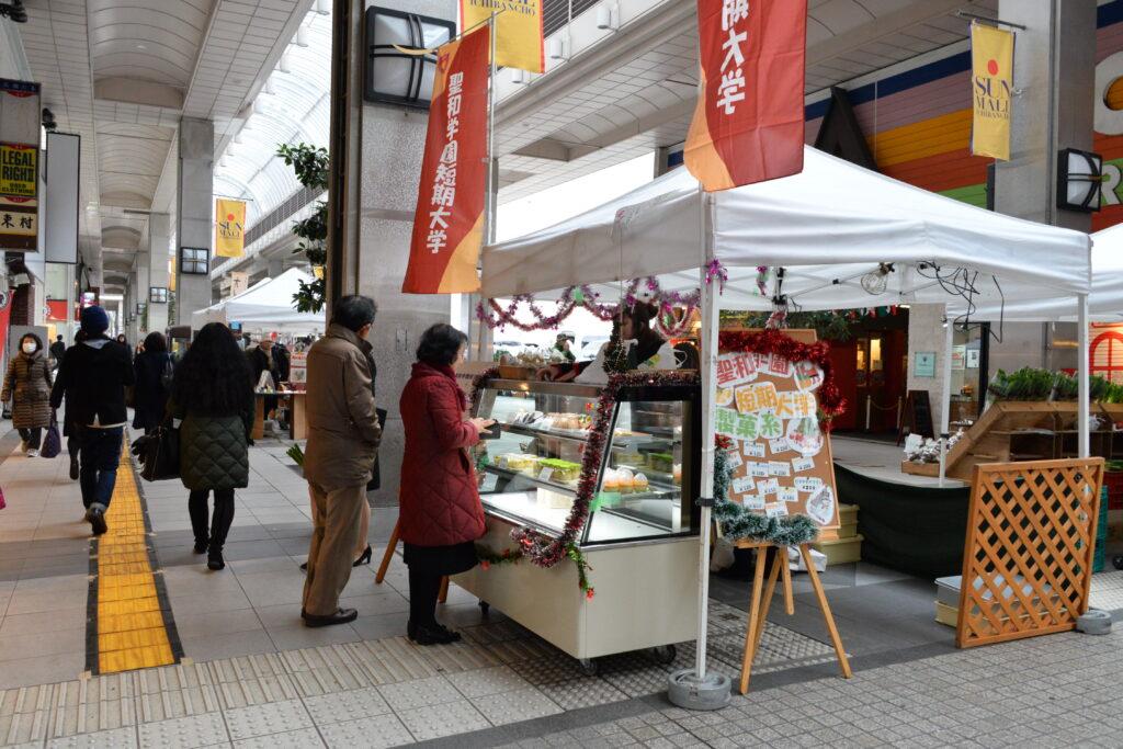 一番町で開催される伊達うま味マーケットでケーキの売り出し、いつも飛ぶように売れる常連店でした。平成28年12月15日