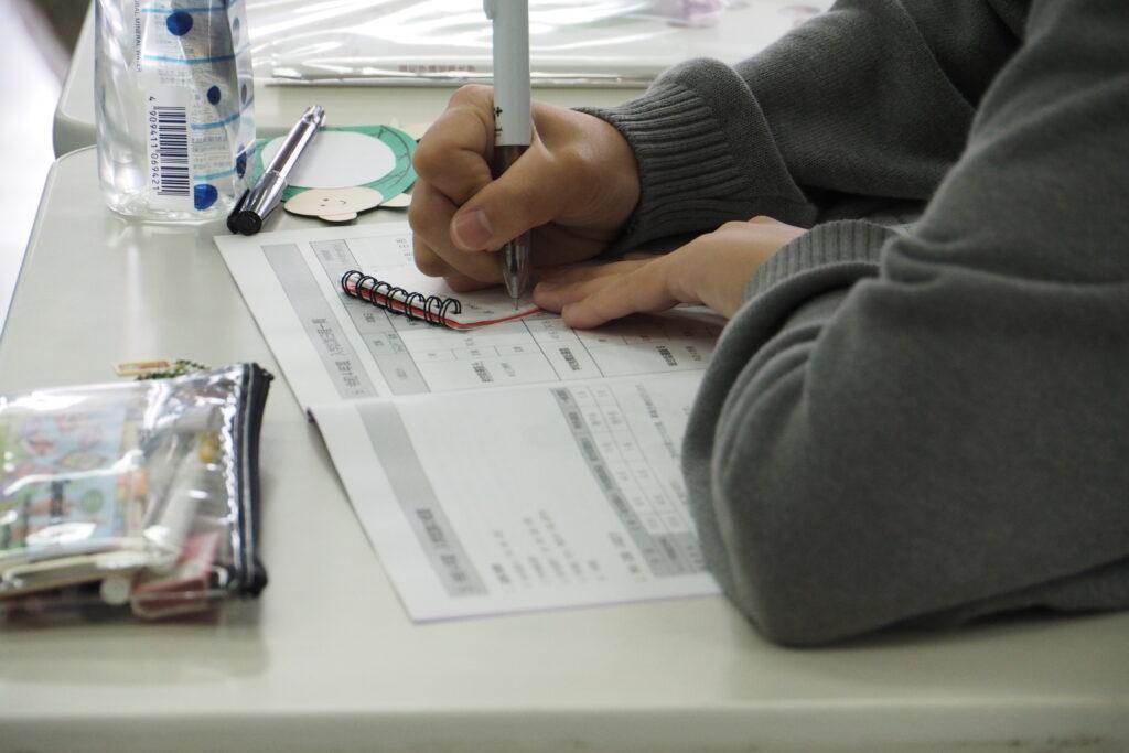 入試準備レッスンでは、特に総合型選抜入試のポイントを丁寧に説明。