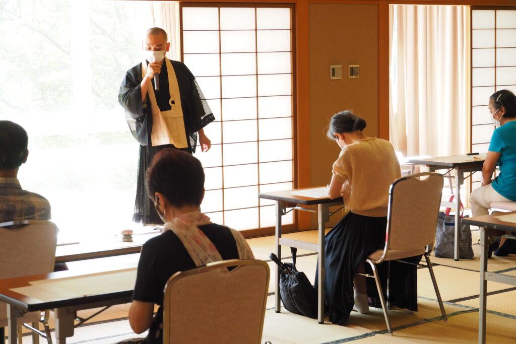 開会の挨拶は講師の鎌田清寛先生です。
